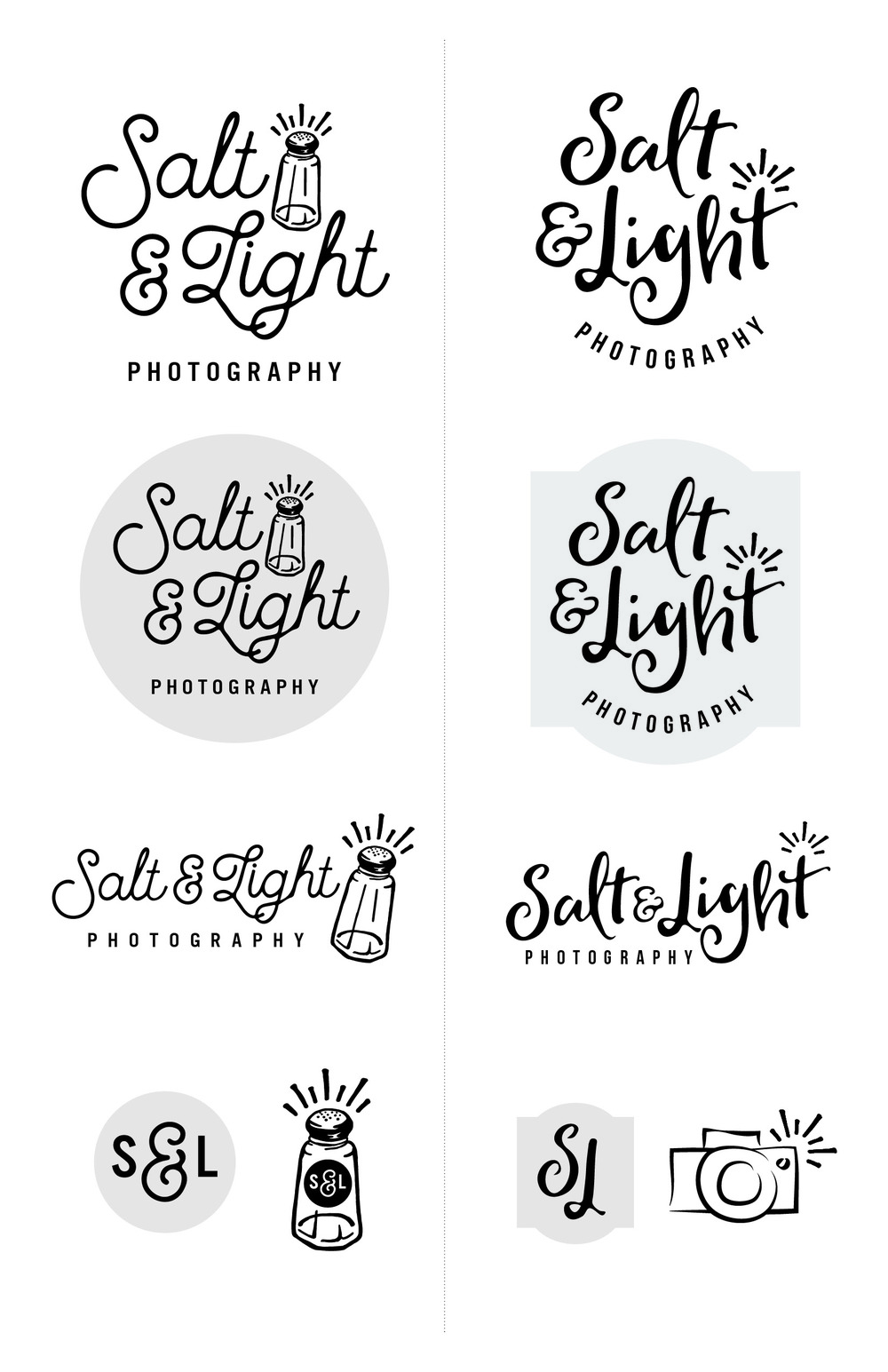 Salt & Light Photography Logo Ideas
