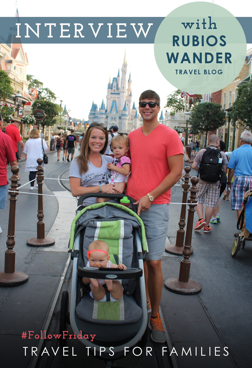 Family picture at Magic Kingdom in Walt Disney World. July 2015.