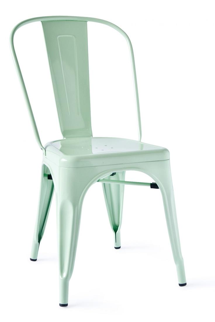Celeste Metal Chair in Mint