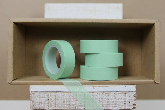 Washi Tape Mint Thin Chevron