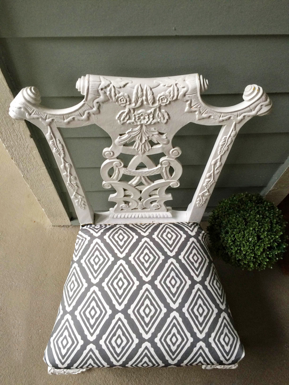 Minted Fabric on Chair