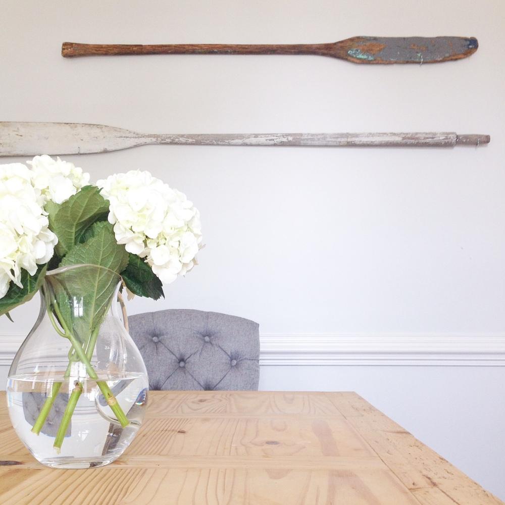 oars on wall
