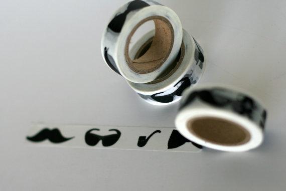 mustache wasabi tape