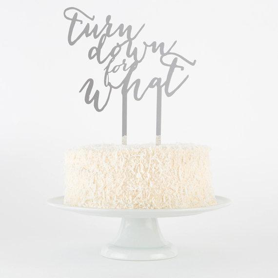 funny cake topper