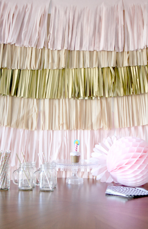 Party tassel backdrop