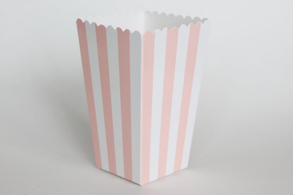 pink striped candy and snack box