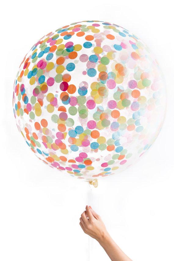 confetti giant balloon