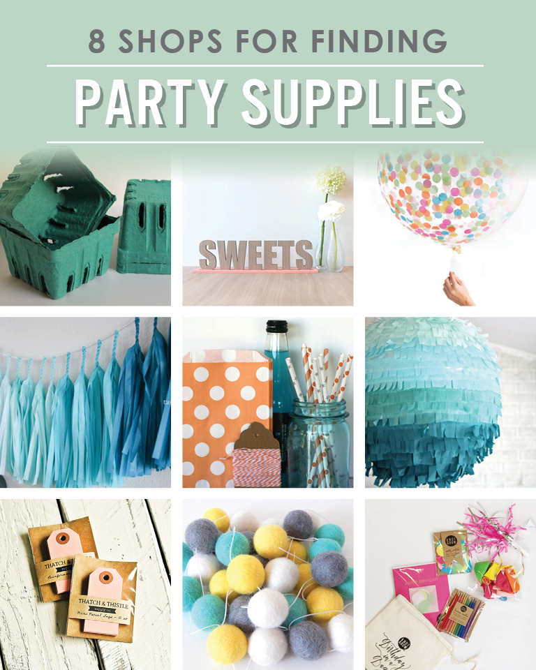 8 Shops fro Finding Party Supplies