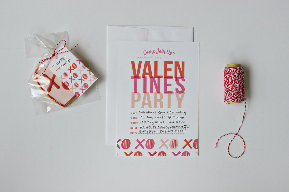 Valentine Cookie Decorating Invite