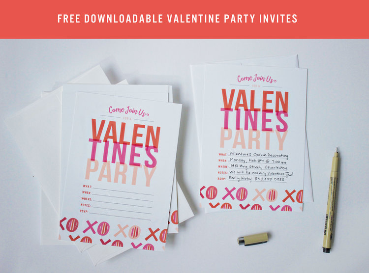 Free ValentineS Day Party Invitations  Texture Design Co