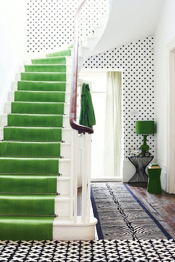 Green Stairway Runner