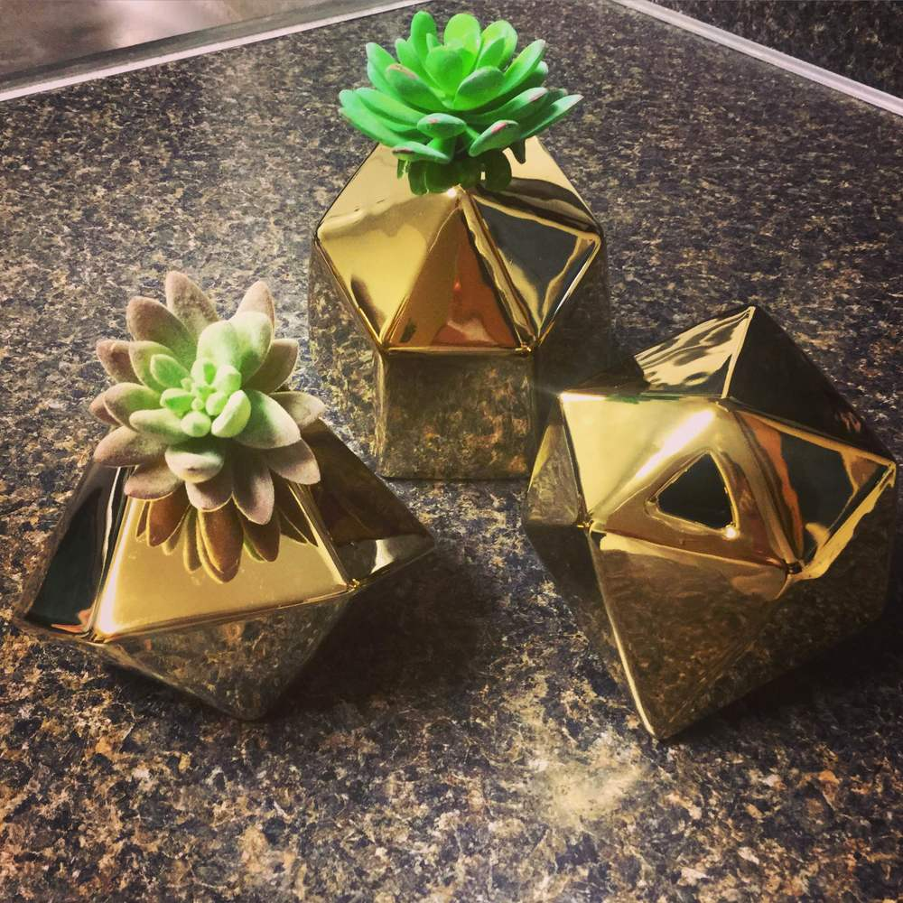 Gold Planters from Emerson Row