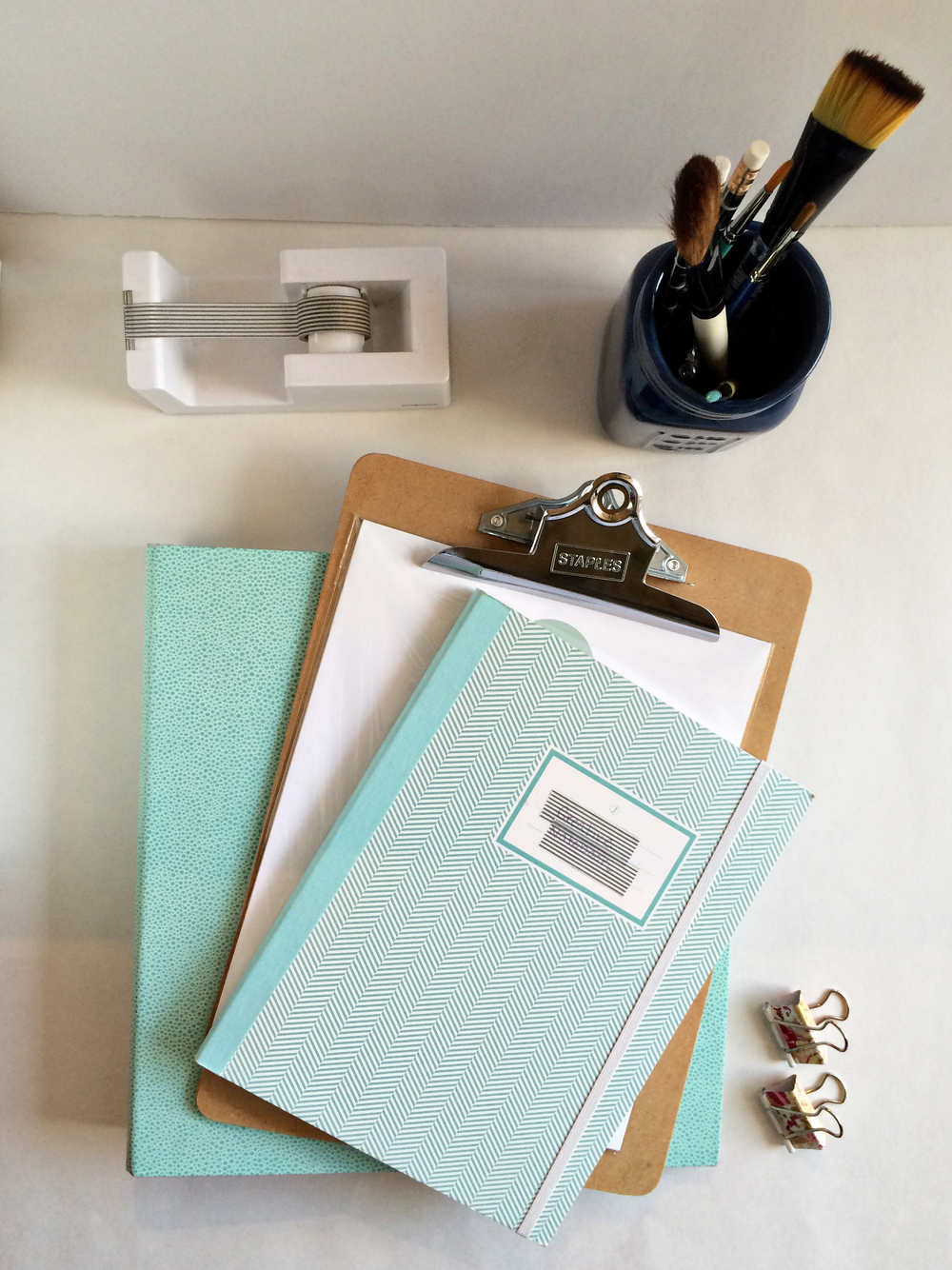 Seafoam Blue office supplies