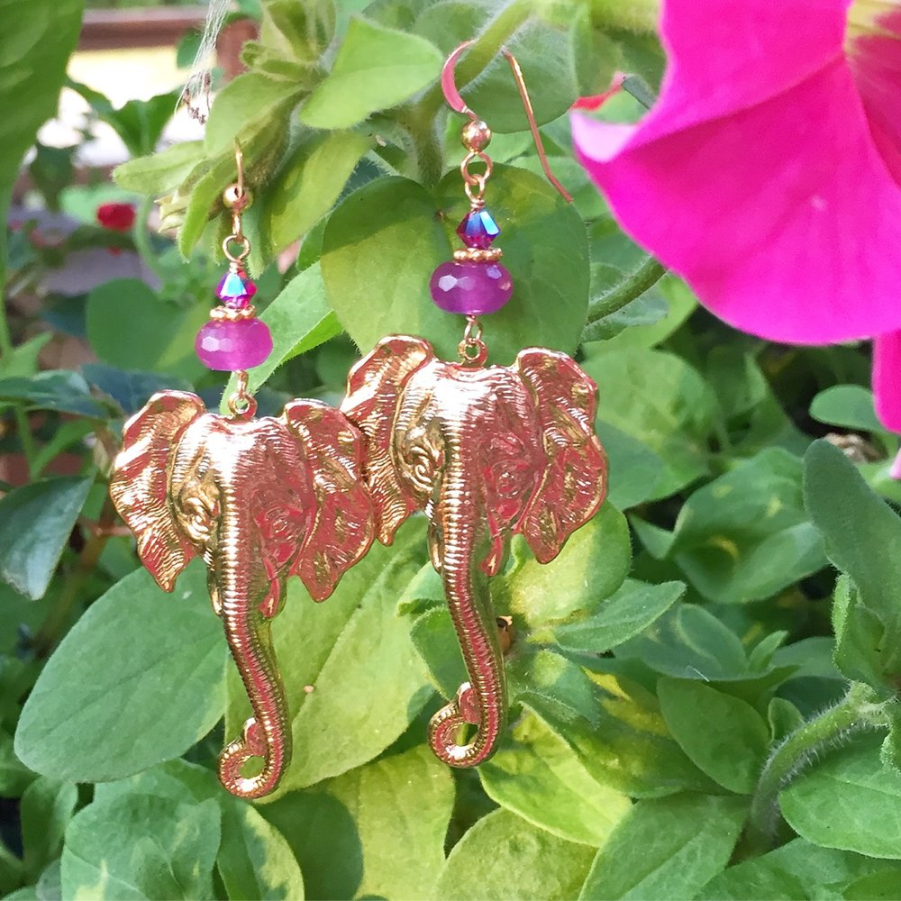 Elephant Earrings by Hermosa Jewelry