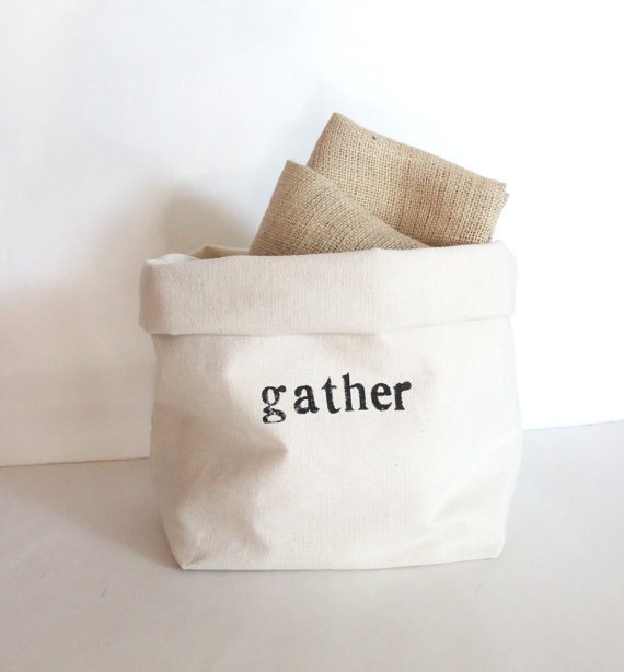 Gather Canvas Storage Basket