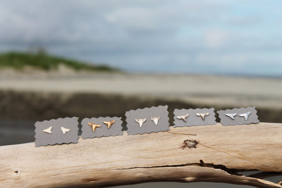 Right Coast Collective Shark Teeth Earrings