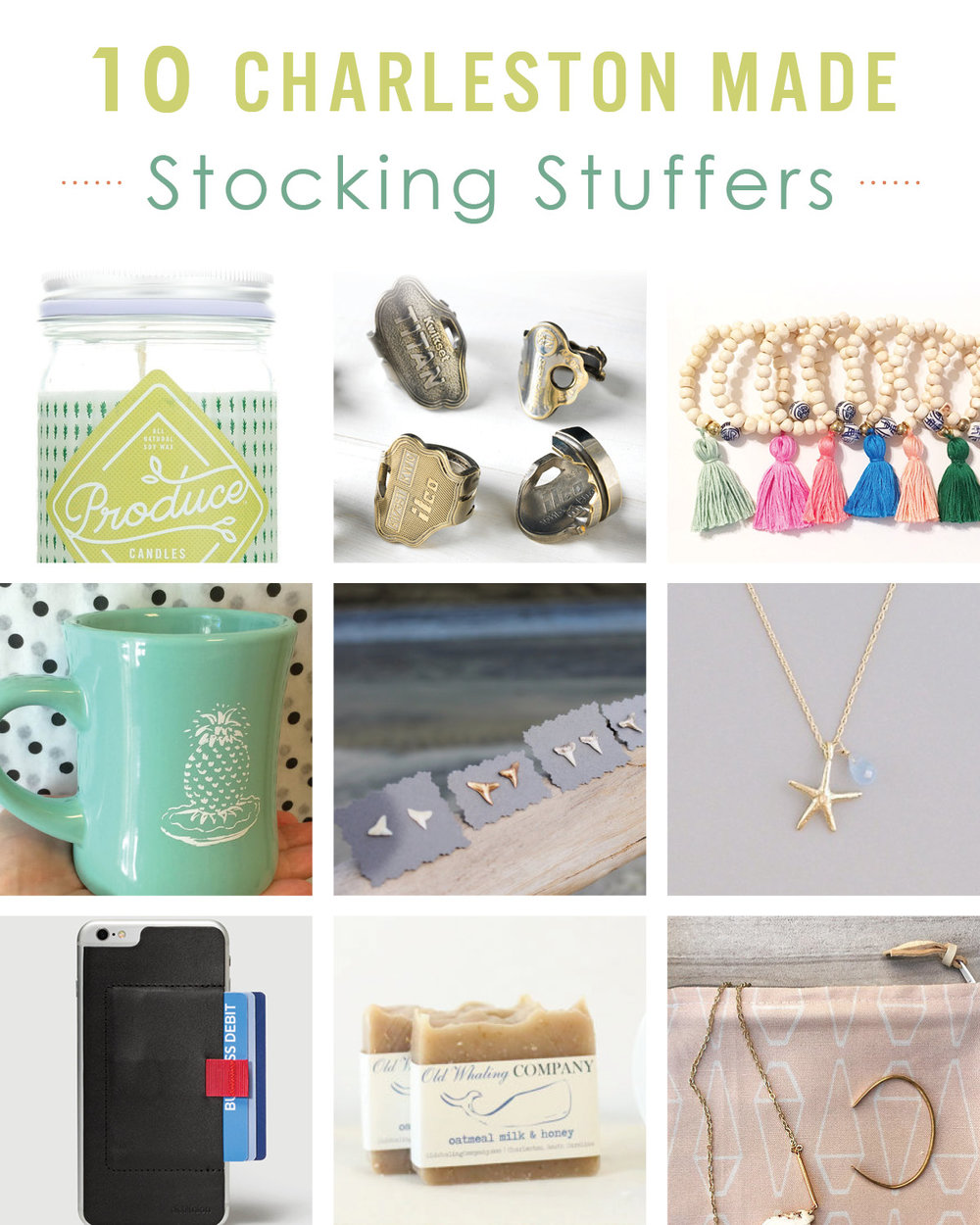 Charleston made stocking stuffer and christmas gift ideas