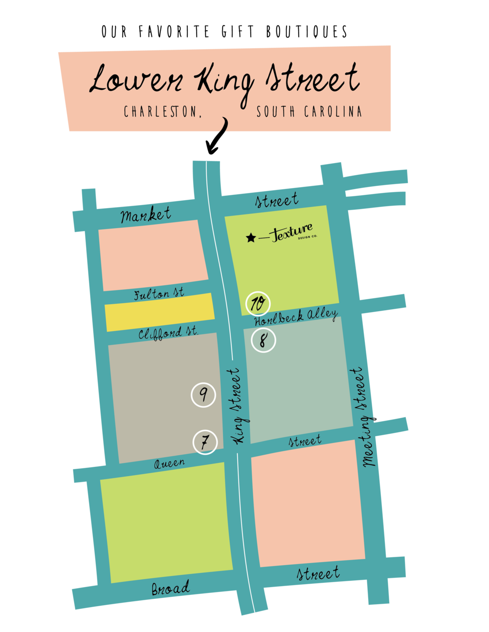 Lower King Street Gift Boutiques in Charleston