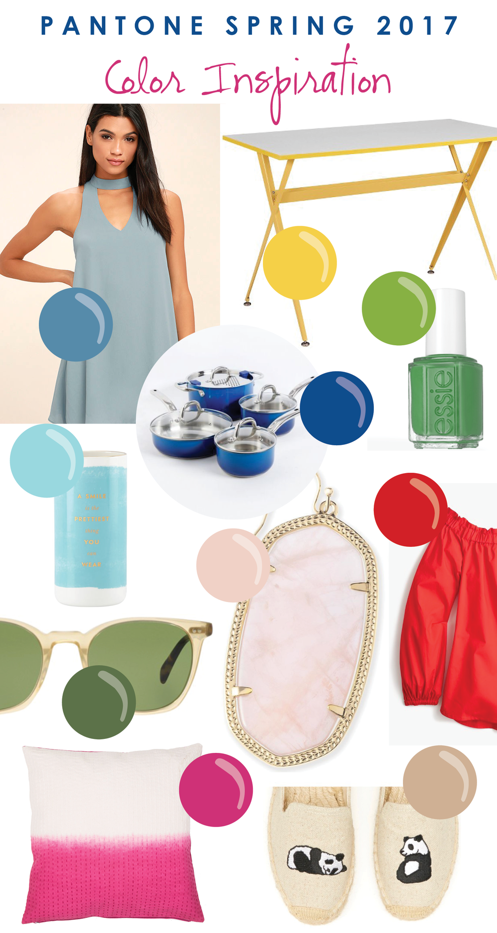 Spring 2017 Pantone Color inspiration board