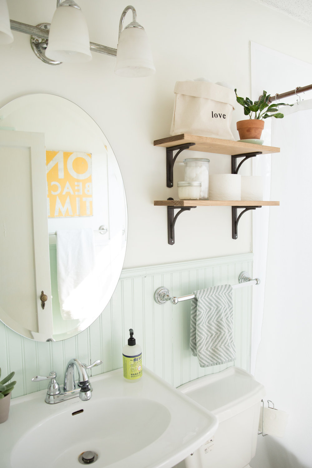 Mint Green Bathroom Makeover