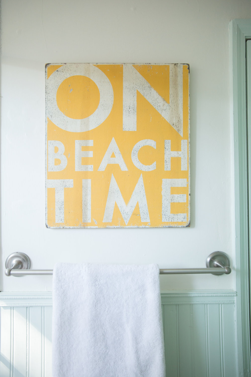 Beach Inspired bathroom space