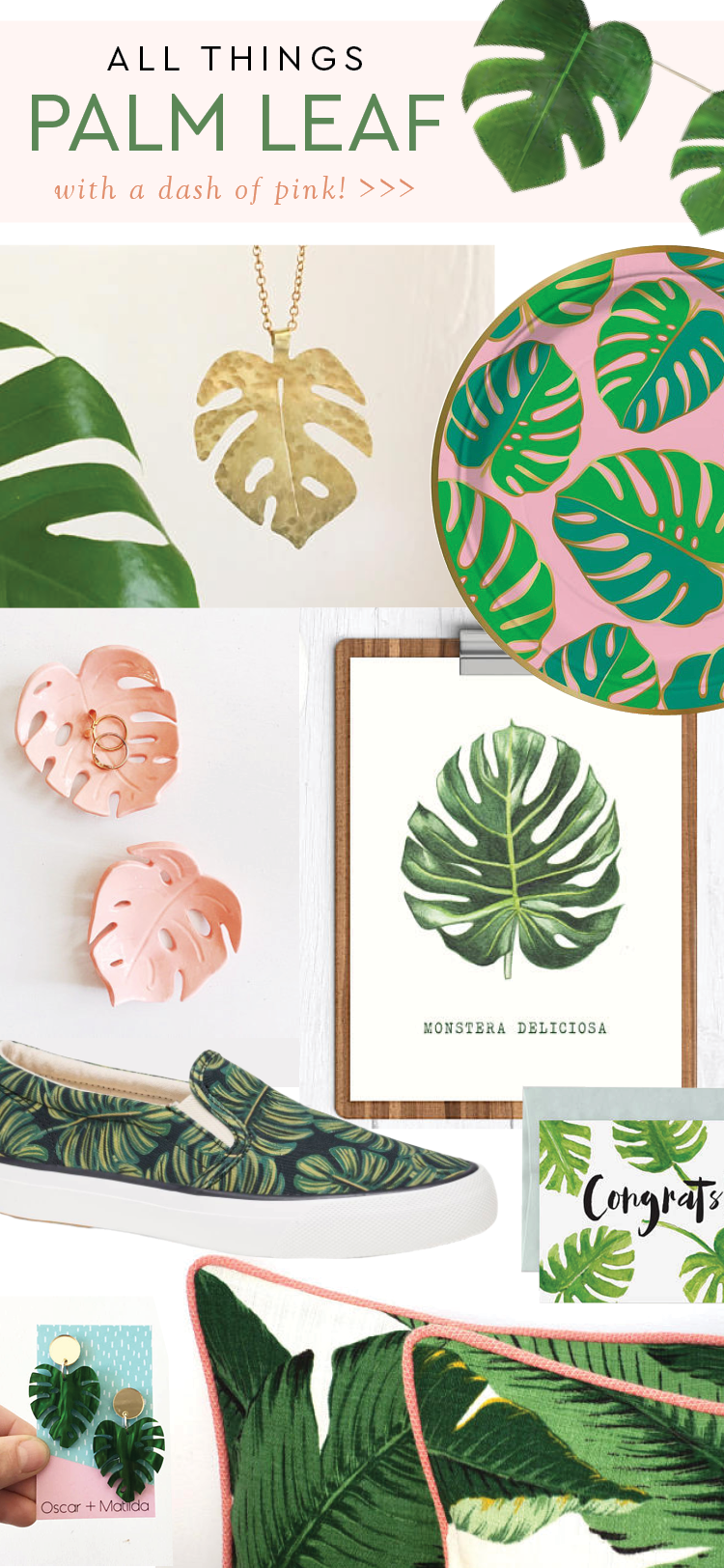 All Things Palm Leaf and pink
