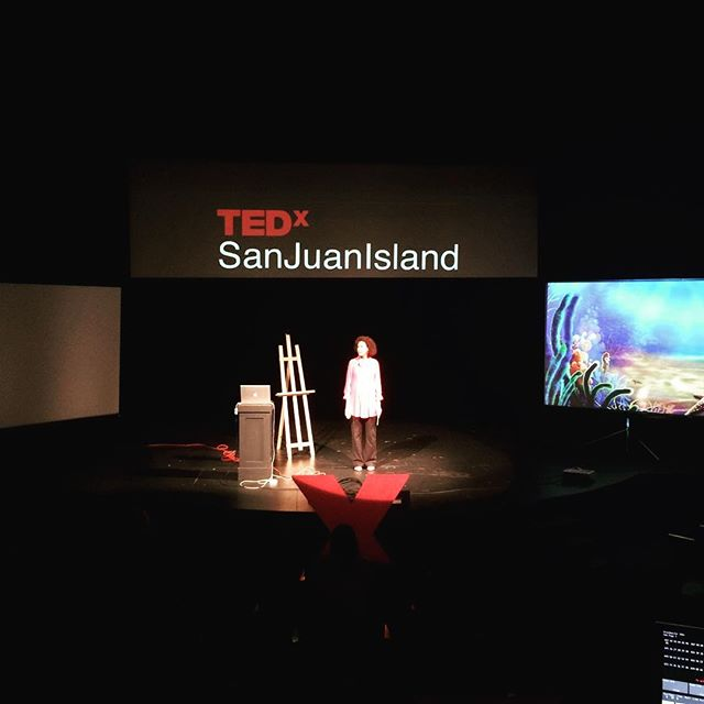 #TEDxSJI speaker #KathleenBatholomew in rehearsal. 7 days to go! #affecteffect #tedx #ted #fridayharbor #tedxsanjuanisland