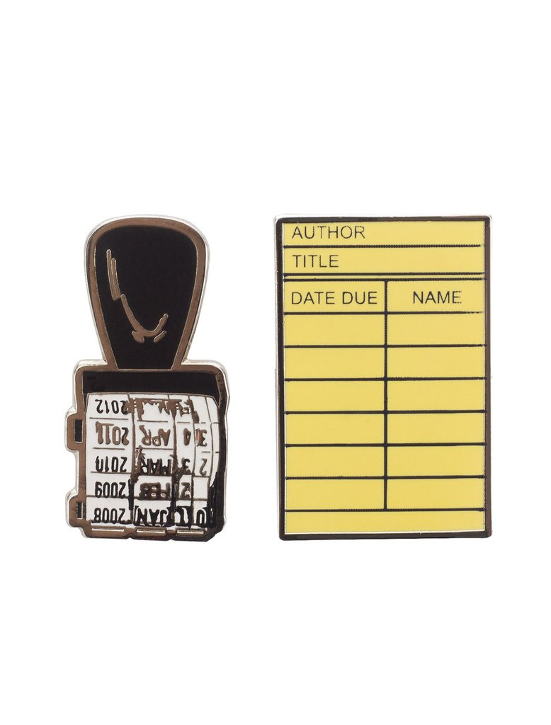 PINS-1001_Library-Card-Stamp-enamel-pin-set_01_1024x1024.jpg. Library Card  & Stamp ...