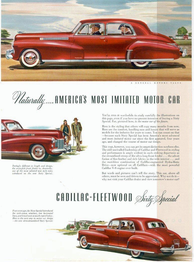 1940-49 Specs — Cadillac Cruiser