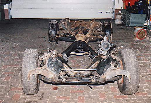 Rolling Chassis After Removal Of Engine And Transmission
