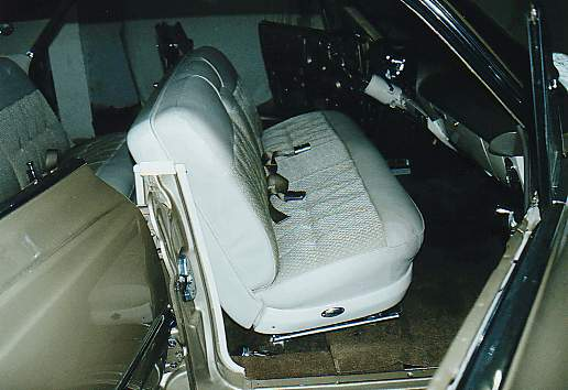 Front Finished Seat With Seat Belts And Original Rear Panel