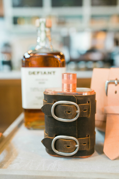 Copper Flask w/ Leather Wrap | ColsenKeane Leather | Charlotte
