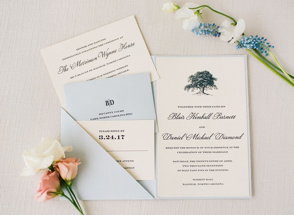 Wedding invitations done by  Maria Scheel  and   Paper Buzz