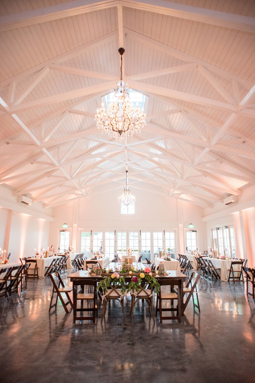 Wedding Reception space in the carriage house at The Merrimon Wynne House