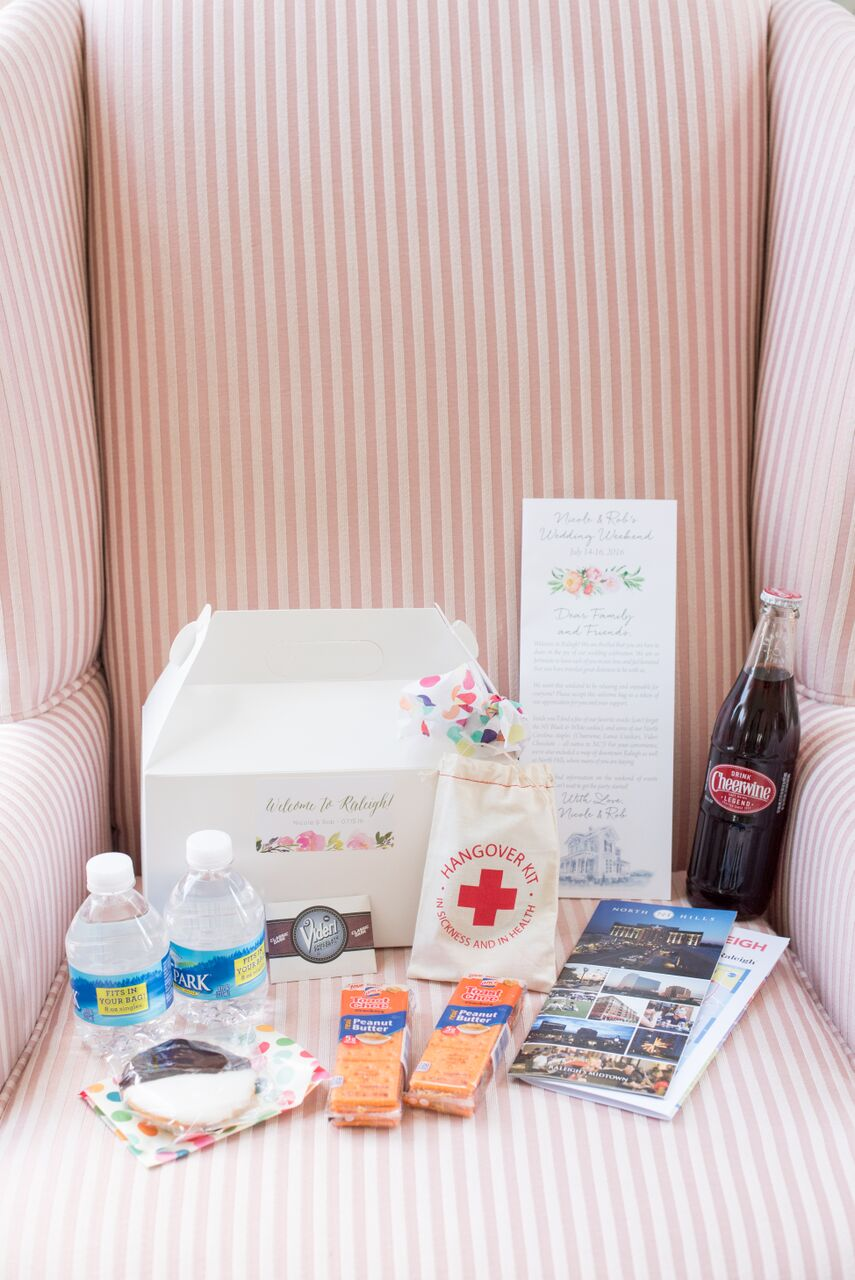 The cutest recovery kit for wedding guests!