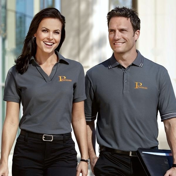 Work uniforms imagewear solutions for Women s company logo shirts