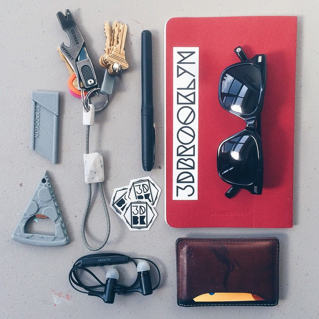Long weekend survival carry    #3DPrinted #3DPrinting #3DBrooklyn #3DBK #Design #Brooklyn #ProductDesign #WarbyParker #Moleskine #GerberGear #JackSpade