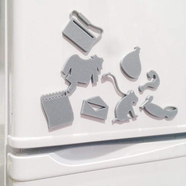 Front door / Fridge reminders    #3DPrinted #3DPrinting #3DBrooklyn #Cubify #Design #Brooklyn #ProductDesign