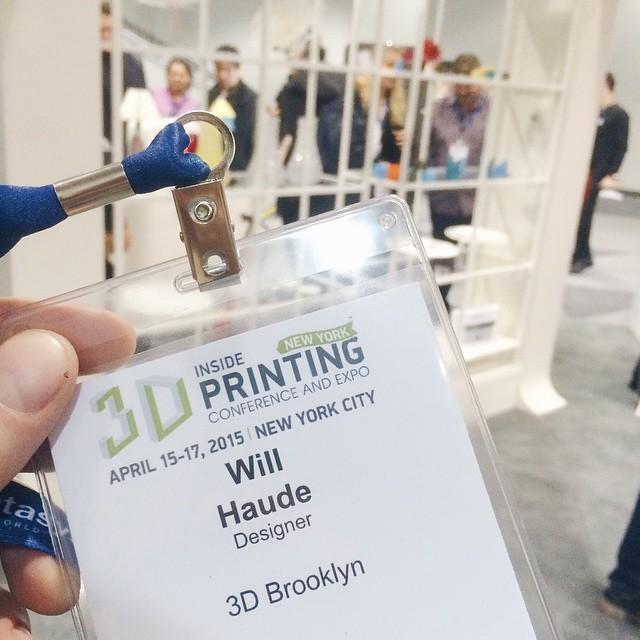 Nerd to printer ratio unknown #3DPrinted #3DPrinting #3DBrooklyn #Brooklyn #3DPrintShow (at Javits Center)