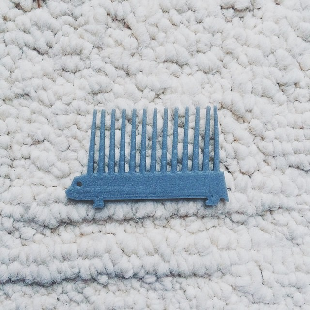 Gave my comb some character    #3DPrinted #3DPrinting #3DBrooklyn #Design #Hedgehog #Porcupine