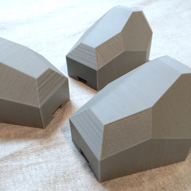 Faceted Wall Planters #3DPrinted #3DPrinting #3DBrooklyn #Cubify #Design #Brooklyn #ProductDesign