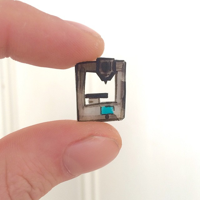Made a shrinky dink of my trusty Cube printer #3DPrinted #3DPrinting #3DBrooklyn #Cubify @cubify @3dsystems #3DSystems