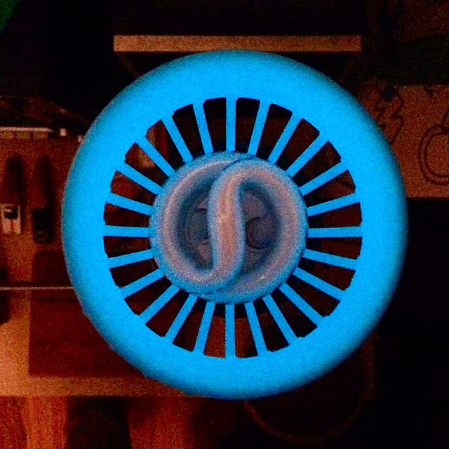 Glow in the dark lampshade    #3DPrinted #3DPrinting #3DBrooklyn #Cubify #Design #Brooklyn #Glow