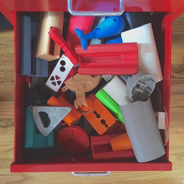 My test prints through time #3DPrinted #3DPrinting #3DBrooklyn #Cubify #Design #3DPrinter #ProductDesign
