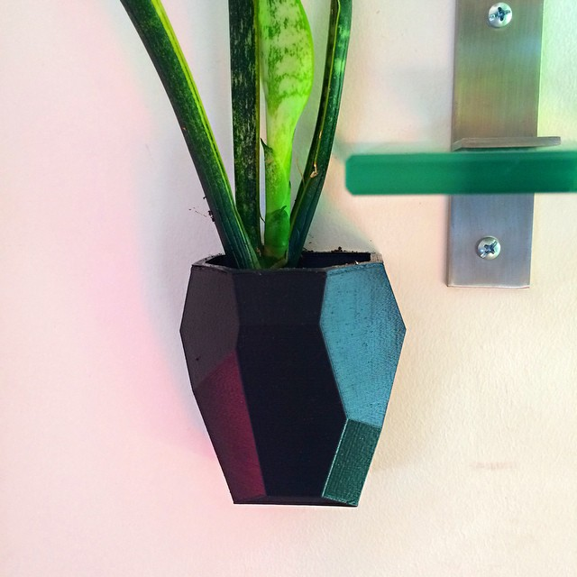 Modular Wall Pot available at 3DBROOKLYN.com 🌱    #3DPrinted #3DPrinting #3DBrooklyn #Cubify #Design #Brooklyn #ProductDesign (at  WWW.3DBROOKLYN.COM )