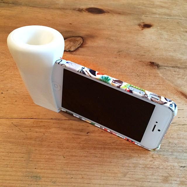 iPhone Passive Amp 🔈🔉🔊    #3DPrinted #3DPrinting #3DBrooklyn #Cubify #Design #Brooklyn #ProductDesign