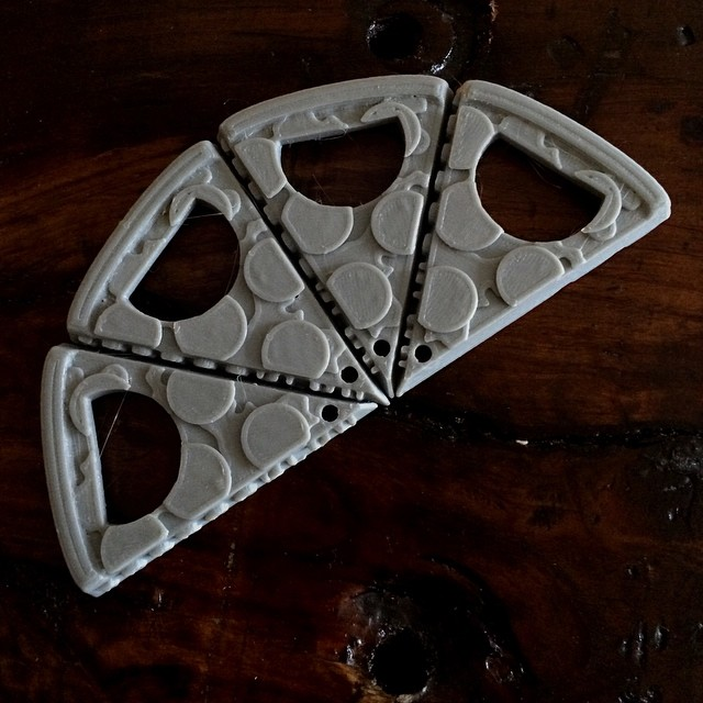 Is it lunch time yet? #tgif    #3DPrinted #3DPrinting #3DBrooklyn #Pizza #Design #Brooklyn #ProductDesign  (at  WWW.3DBROOKLYN.COM )