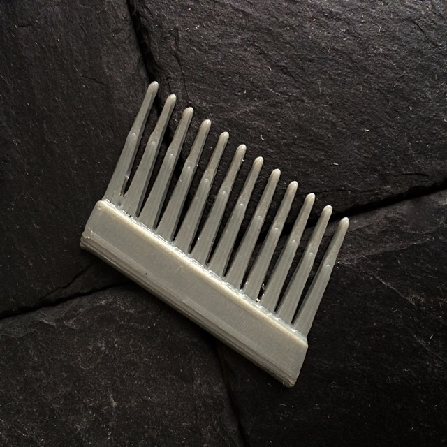 Haven't made it to @rivingtonbarber in too long, getting a lot of use from my back pocket comb    #3DPrinted #3DPrinting #3DBrooklyn #Cubify #Design #Brooklyn #ProductDesign