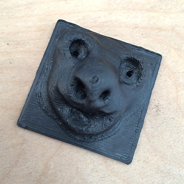 "made a ""face"" with Leap Motion     #LeapMotion #Freeform #3DPrint #Future"
