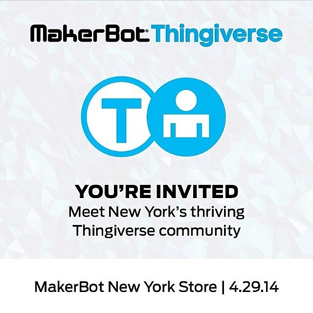I'll be speaking at the NYC Makerbot store tomorrow for a show and tell at 7:30. Join us for a night of filament and fun